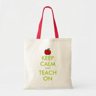 Red apple teacher tote bag | Keep Calm and teach