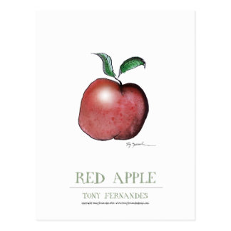 red apple, tony fernandes post cards
