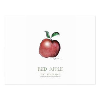 red apple, tony fernandes post card