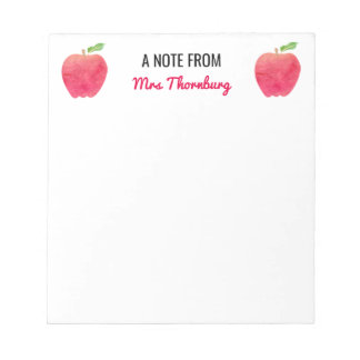 Red Apples A Note From Teacher Personalized