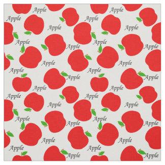 Red apples pattern nursery fabric