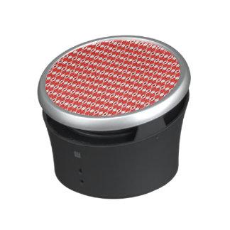 Red Argyle Bumpster Speaker