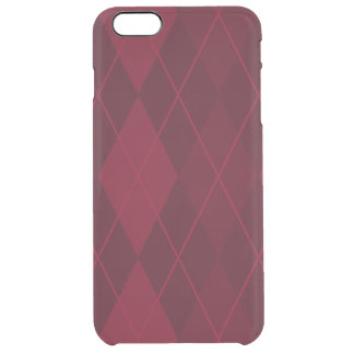 Red Argyle Clear iPhone 6 Plus Case