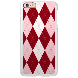 Red Argyle Crimson Pink Small Diamond Shape