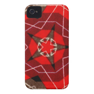 Red Argyle Kaleidoscope Abstract Case-Mate iPhone 4 Cases