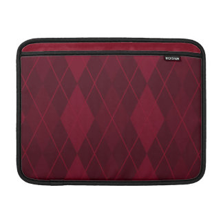 Red Argyle MacBook Sleeve