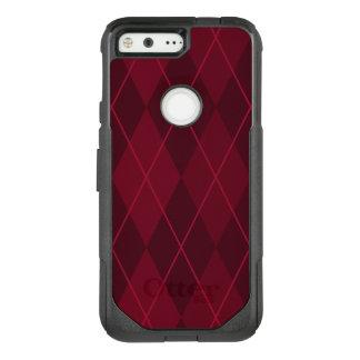 Red Argyle OtterBox Commuter Google Pixel Case