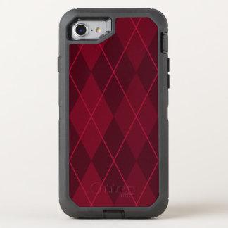 Red Argyle OtterBox Defender iPhone 8/7 Case