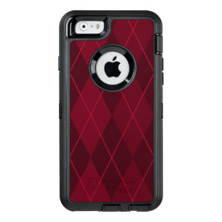 Red Argyle OtterBox Defender iPhone Case