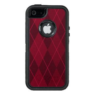 Red Argyle OtterBox iPhone 5/5s/SE Case