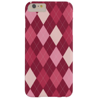 Red argyle pattern barely there iPhone 6 plus case