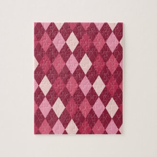 Red argyle pattern puzzle
