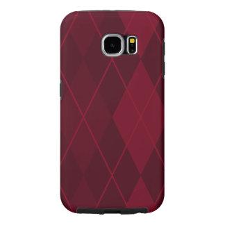 Red Argyle Samsung Galaxy S6 Cases