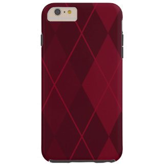 Red Argyle Tough iPhone 6 Plus Case