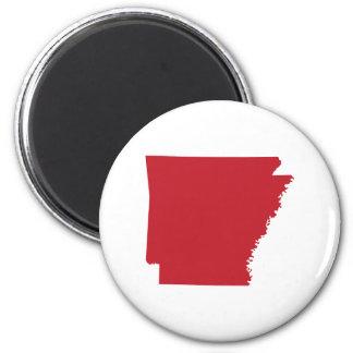 Red Arkansas 6 Cm Round Magnet