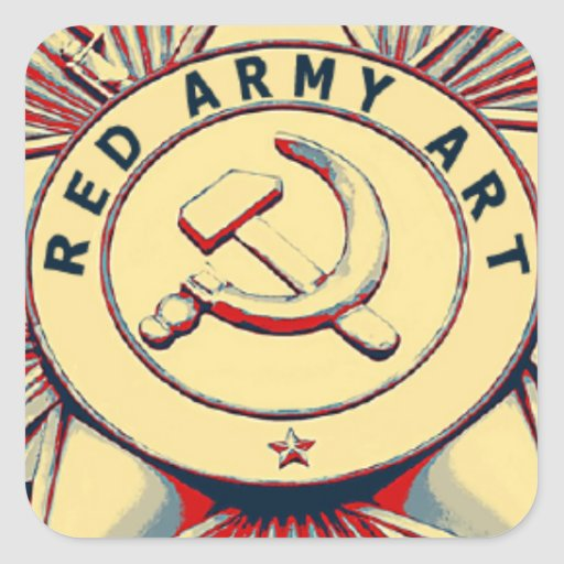 RED ARMY ART SQUARE STICKER