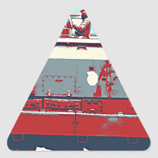 Red Army Conquest Triangle Sticker