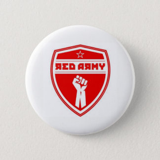Red Army Hockey Badge White