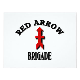 Red Arrow Brigade Military 11 Cm X 14 Cm Invitation Card