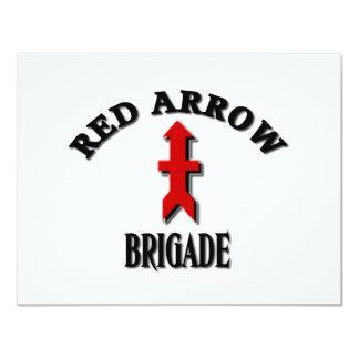 Red Arrow Brigade Military 11 Cm X 14 Cm Invitation Card