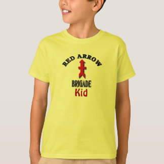 Red Arrow Brigade Military Kid T Shirts