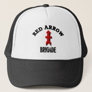 Red Arrow Brigade Military Trucker Hat