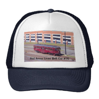 Red Arrow Lines Brill Car #76 Hat