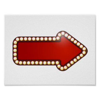 Red Arrow With Lights Poster