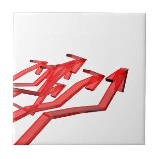 Red arrows ceramic tile