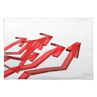 Red arrows placemat