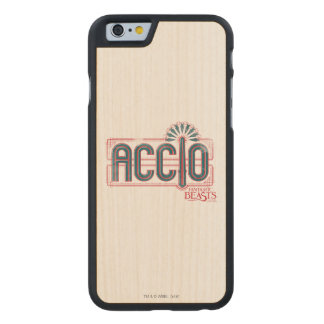 Red Art Deco Accio Spell Graphic Carved Maple iPhone 6 Case