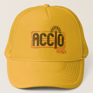 Red Art Deco Accio Spell Graphic Trucker Hat