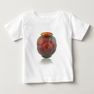 Red Art Deco glass vase depicting turtles. Baby T-Shirt