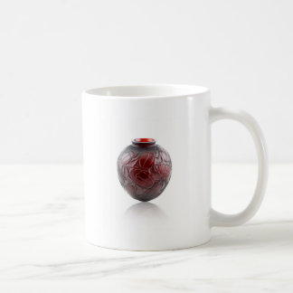 Red Art Deco glass vase with scarabs. Coffee Mug