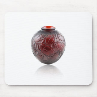 Red Art Deco glass vase with scarabs. Mouse Pad