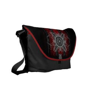 Red Artifice Inspired Satchel Messenger Bag