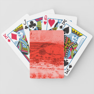 Red Artistic Abstract Poker Deck of Cards