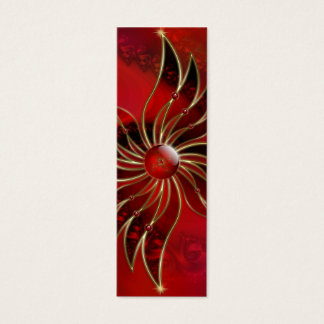 Red As the Flame Bookmarks Mini Business Card