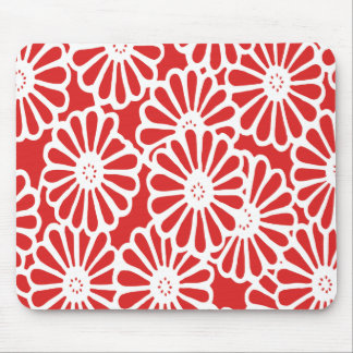 Red Asian Moods Floral Mouse Pad