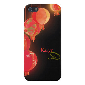 Red Asian Paper Lanterns Black iPhone 5 Savvy Case iPhone 5 Covers