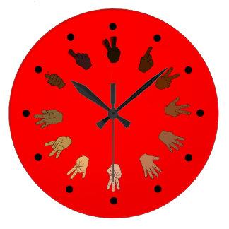 Red ASL Clock