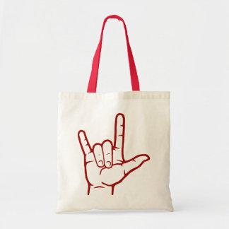 Red ASL I Love You Bag