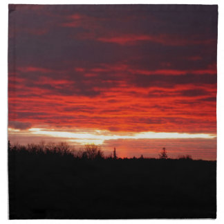 Red at Night, sailors delight Napkin