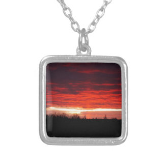 Red at Night, sailors delight Silver Plated Necklace