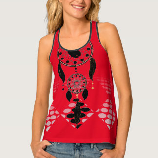 Red Athletic Pro Tribal Racerback Tank Top