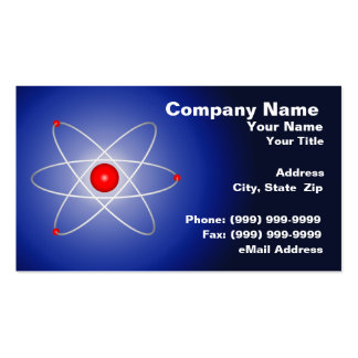 Red Atom Against a Blue Graduated Background Double-Sided Standard Business Cards (Pack Of 100)