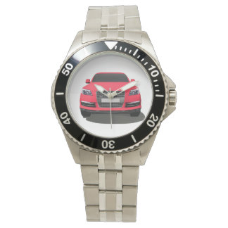 Red automobile watch