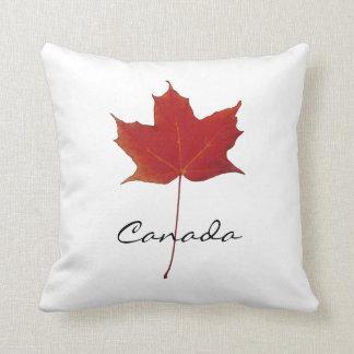 Red autumn canadian maple leaf - Canada Cushion