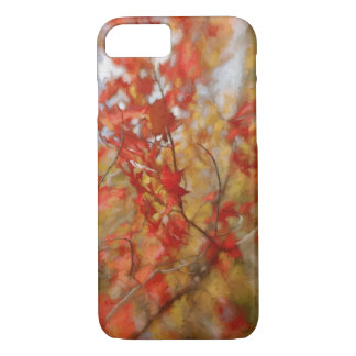 Red Autumn Leaves Abstract Painting iPhone 7 Case