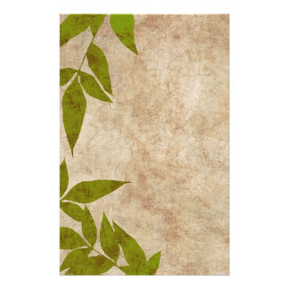 Red Autumn Leaves Vintage Stationery